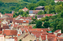 Roofs of houses a small town Royalty Free Stock Photography