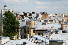 Roofs of houses Royalty Free Stock Photos