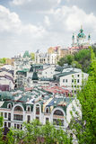 Roofs of houses, the streets of Kiev Stock Photos