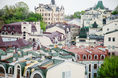 Roofs of houses, the streets of Kiev Stock Photo