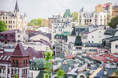 Roofs of houses, the streets of Kiev Stock Photography