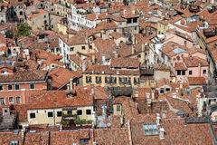 Roofs of houses of tiles, view from the bell tower in Piazza San Marco in Venice Stock Photography