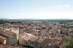 The roofs of Hyeres Stock Image