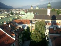 Roofs of Innsbruck Royalty Free Stock Image