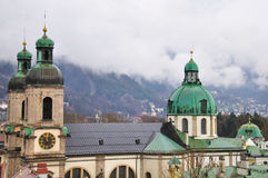 Roofs of Innsbruck Stock Image