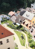 Roofs in Jindrichuv Hradec Royalty Free Stock Photo