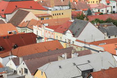 Roofs in Jindrichuv Hradec Stock Photography