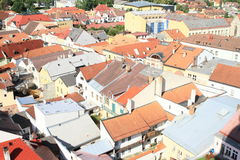Roofs in Jindrichuv Hradec Stock Photo