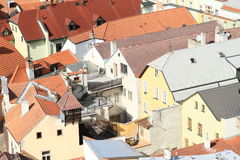Roofs in Jindrichuv Hradec Stock Photos