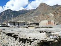 Roofs of Jomson, Nepal Stock Photo