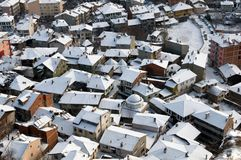 Roofs of Kastamonu in Winter Stock Image