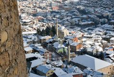 Roofs of Kastamonu in Winter Royalty Free Stock Photo
