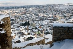 Roofs of Kastamonu in Winter Stock Photography