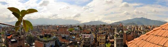 Roofs of Kathmandu, Nepal capital Royalty Free Stock Images