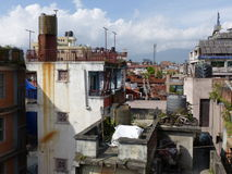 Roofs of Kathmandu, The Streets of Thamel Stock Images