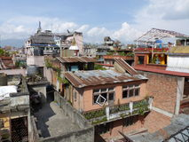 Roofs of Kathmandu, The Streets of Thamel Stock Image