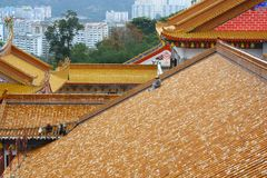 Roofs at Kek lok si temple Stock Photos