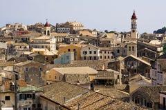 Roofs of Kerkyra, the capital of Corfu, greece Royalty Free Stock Image