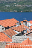 Roofs of Korcula Royalty Free Stock Photography