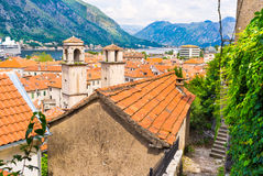 The roofs of Kotor Stock Image