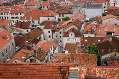 Roofs of Kotor. The old town of Kotor, which is under UNESCO protection Royalty Free Stock Images