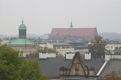 Roofs in Krakow, Poland Royalty Free Stock Photography