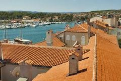 Roofs of Krk town Royalty Free Stock Images