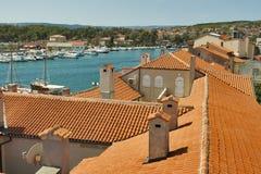 Roofs of Krk town. Island Krk, Croatia royalty free stock images