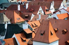 Roofs of Krumlov Royalty Free Stock Image