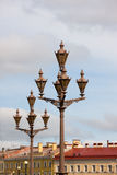 Roofs and lanterns of Saint-Petersburg Stock Photos