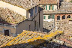 Roofs in light and shadows Royalty Free Stock Images