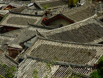 Roofs at Lijiang Stock Image