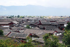Roofs of lijiang old town, yunnan, china Stock Photos
