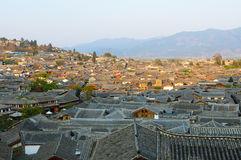 Roofs of lijiang old town, yunnan, china Royalty Free Stock Photos