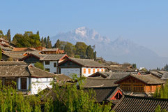 Roofs of lijiang old town, yunnan, china Royalty Free Stock Images