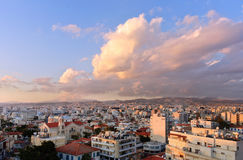 Roofs of Limassol stock photo