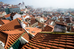 Roofs Lisbon Royalty Free Stock Photography