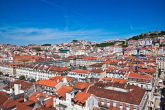 Roofs of the Lisbon, Portugal Royalty Free Stock Image