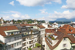 Roofs of Luzerne Royalty Free Stock Photos