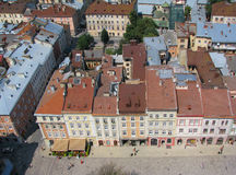 The roofs of Lviv. From city hall tower Stock Image