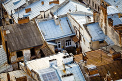 Roofs in Lviv (Lvov) city, Ukraine Royalty Free Stock Image