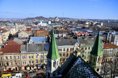 Roofs of Lviv Royalty Free Stock Photos