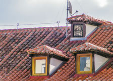 Roofs of Madrid Stock Photos