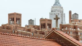 Roofs of Manhattan royalty free stock photos