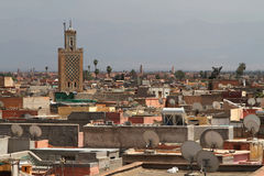 Roofs of Marrakech Royalty Free Stock Photos