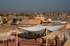 Roofs of Marrakech, Morocco Royalty Free Stock Image