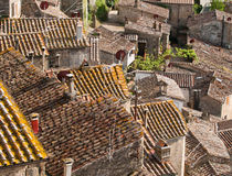 Roofs in medieval town Sorano in Italy. Roofs in ancient town Sorano in Tuscany, Italy Stock Photo