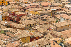Roofs of a Mediterranean town Stock Image