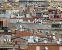 Roofs of the metropolis with antenna Royalty Free Stock Photos