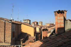 Roofs of Modena with old building Royalty Free Stock Photos